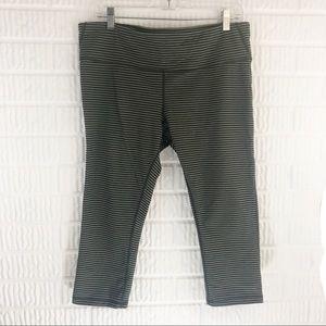 Gap Fit striped Capri leggings